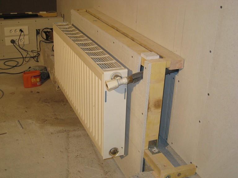 Installation hc dans la cave de fabrice91 99 page 27 29863880 sur - Fixation radiateur placo ...
